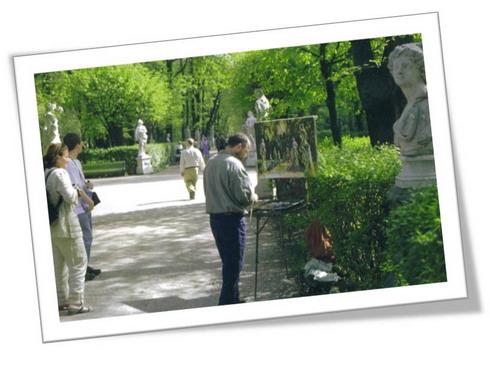 Talgat Samalejew im Sommergarten